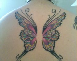 Fairy Wings Tattoo-- Colored by roguewyndwalker