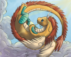 Mega Dragonite: King of the skies by Agryo