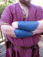 Blue Celtic Bracers by TheScreamingNorth