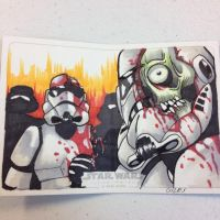 Zombie Storm Trooper Sketch Card by GIG-Arts