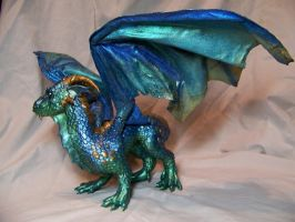 ooak Blue Dragon 1 by AmandaKathryn