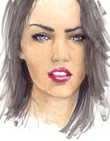 megan fox sketch by Mafin10