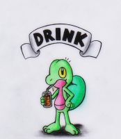DRINK - Treecko by GTS257-CT