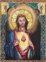 The Sacred Heart of Jesus by Aodhagain