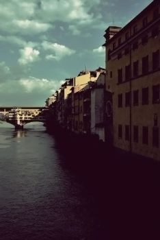 Arno near Ponte Vecchio. by PsychedelicEyes