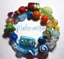 Exciting dream bracelet by motemanikabeads
