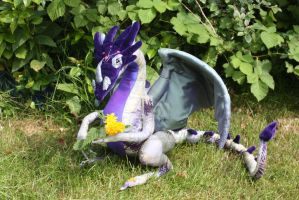 Lovandira OOAK handmade poseable dragon FOR SALE by DragonForge311088