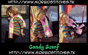 Raver Candy Scarf by morbid-stitches