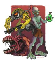 This Oddysee of Abe's. by DLouiseART