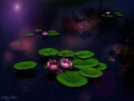 Galactic Lilies by Casperium