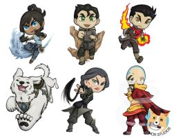 Legend of Korra keychain set by NotJailBait