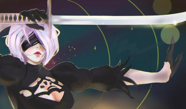 nier automata speed sketch by AmeDvleec