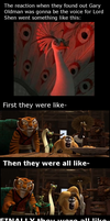 Kung Fu Panda Cast is like OMG by The9Tard