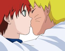 NaruGaa - Kiss by Tainted-reflection