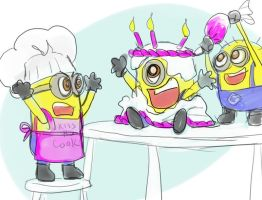 Despicable me - Minion Cake by jameson9101322