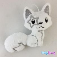 Silver Star Fox Plush Keychain by TheHarley