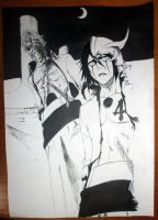 Drawing cover Bleach Manga Ulquiorra Grimmjow by LuciDark