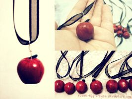 apple necklaces by robins-egg-crayon