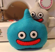 Blue and Metal Slimes by loveandasandwich