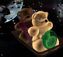 Bears in Space by Botchan-3D