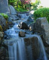 Japanese waterfall by Moonbird9