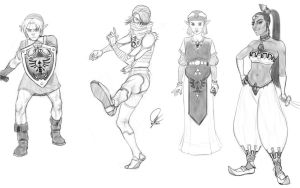 Legend of Zelda sketches by MartaFerreira