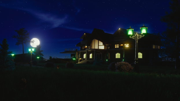 House of my dream. Done in Blender 3D by VikiTar
