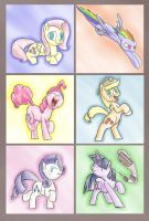 The Mane Six by timsplosion