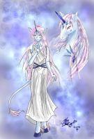 Ameryth the unicorn lady XD by sylent-realm