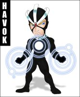 Chibi Havok Colored by JustPlainJoe