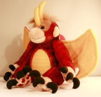 red and gold monkey dragon by Jadetiger