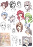 Anime sketches by MissPinks