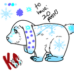 Snow Bunny Adopt -female- by alonegothictomboy
