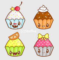 Kawaii Cuppycakes by steffne