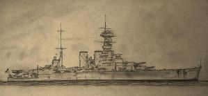HMS Hood by Pictaview