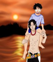 Ace and Luffy by Coconut-CocaCola