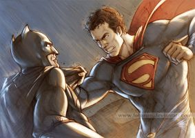 Batman v Superman - Fight by Lehanan