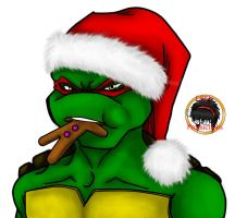 Merry Christmas 2011 Raphael style by MessedUpEssy