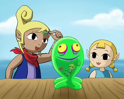 Two Girls, a Link, and a Chuchu-Restoration by Jackurai