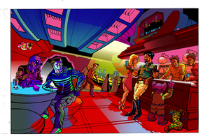 Star Wars bar scene WarmVSCool by shockwave-b2635488