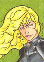 Black Canary Sketch Card by wheels9696