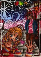 Aceo 027- Funfair Fun! - Pink and Firey - by Kaitourose