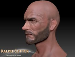 Clint 3D Model Color Test 3 by FoxHound1984