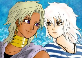 Marik Ishtar and Ryou Bakura ~ 2012 by ASLpuppies