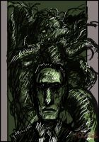 HP Lovecraft and Cthulhu by SnoopyMD
