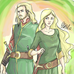 Eomer and Eowyn by Rivaldiart