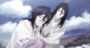 Byakuya and Hisana by mollymous