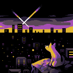 Dog and City by OCEANSCENTED