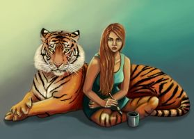 with the tiger.. by nena211