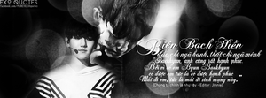 [ EXO Quotes | 1st project ] ChanBaek 3 by Emilybbz
